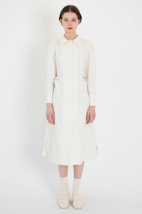 01 Layered shirt dress (cream)