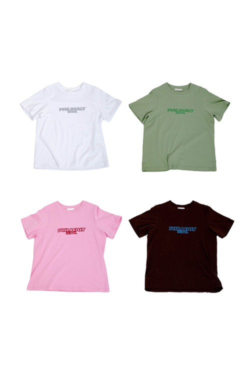 Glitter logo t-shirt (4colors)