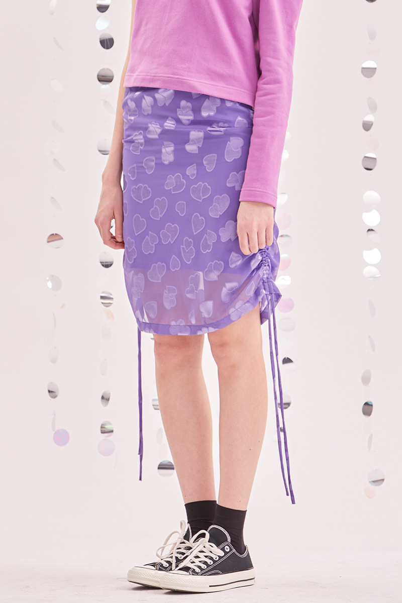 Love shirring skirt_purple
