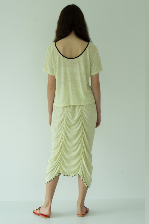 Summer flow skirt_lemon