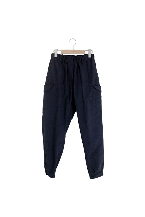 Circle pocket pants (navy)