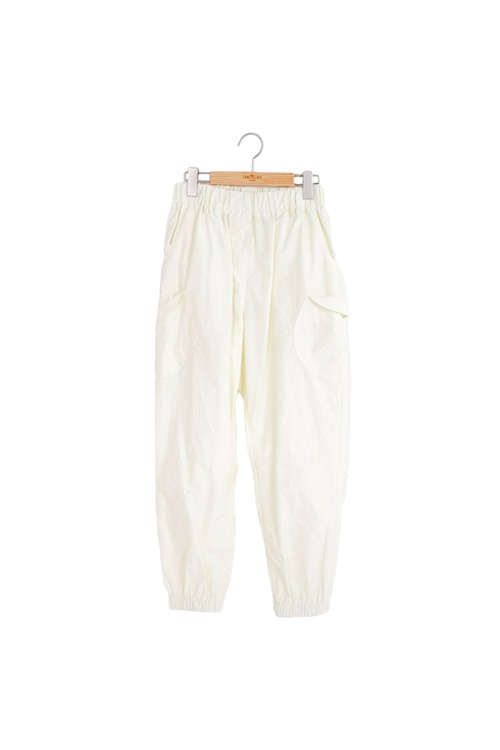 Circle pocket pants (light yellow)