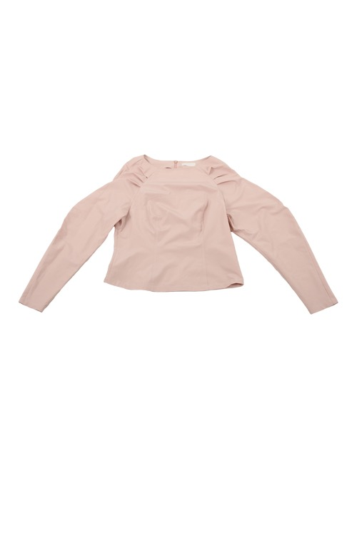 wavy blouse (smoke rose)