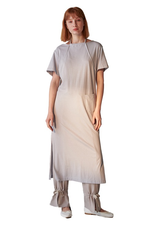 Apron jersey dress_grey