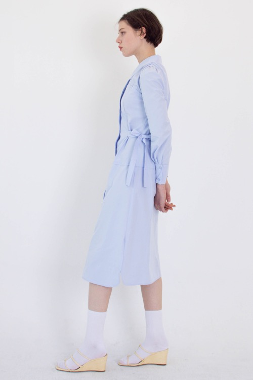 01 Layered shirt dress (skyblue)
