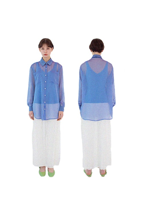 Clear blouse (blue)
