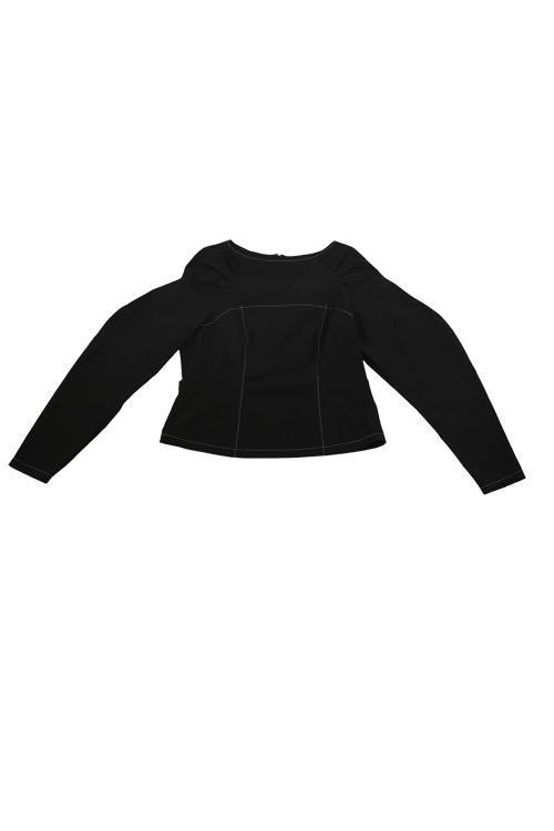 wavy blouse (black)
