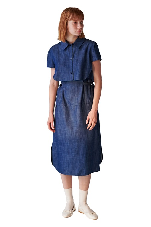 02 denim dress set_medium blue