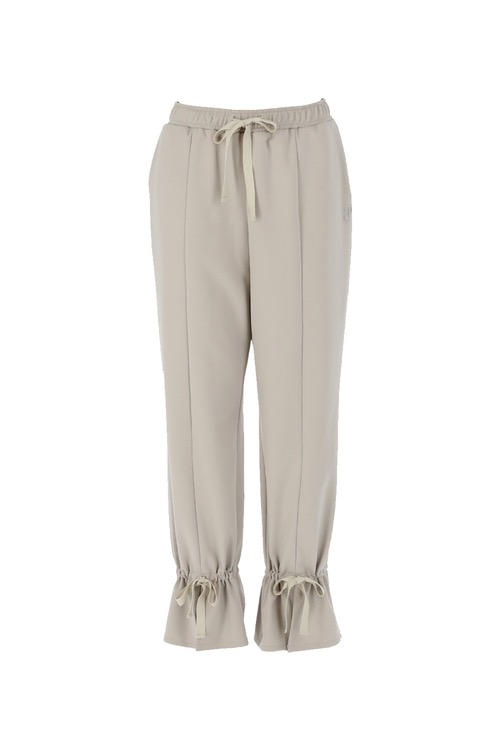 Ribbon sweat pants_greige