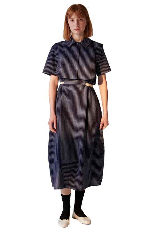 05 volume dress set_navy stripe